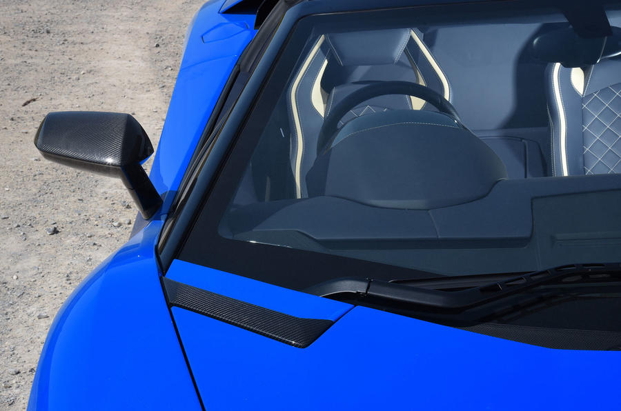 Lamborghini Aventador S 2018 first drive review windscreen