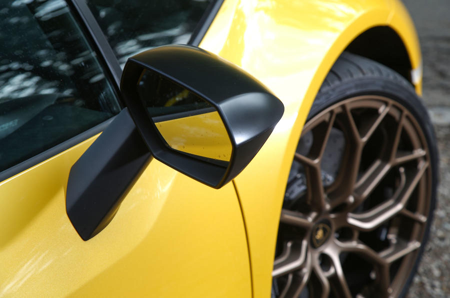 Lamborghini Huracan Performante Spyder 2018 UK review wing mirrors