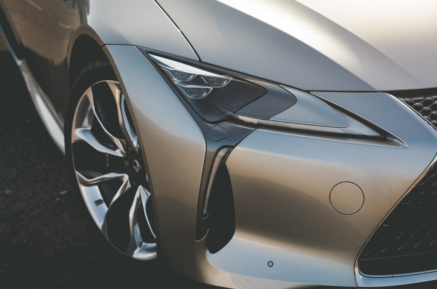 Lexus LC Convertible 2020 UK first drive review - headlights