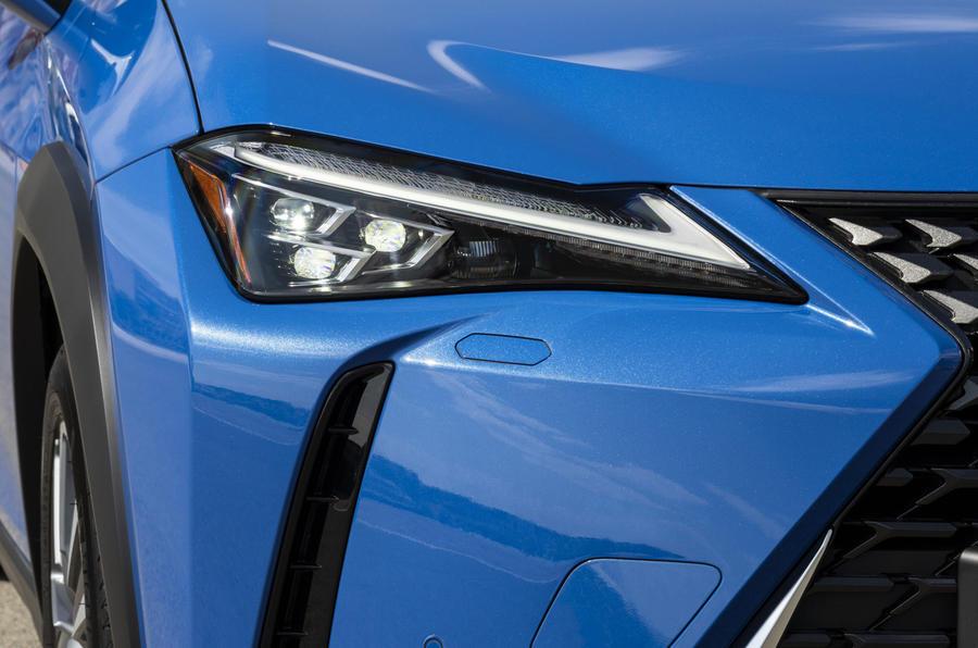 Lexus UX300e 2020 UK first drive review - headlights