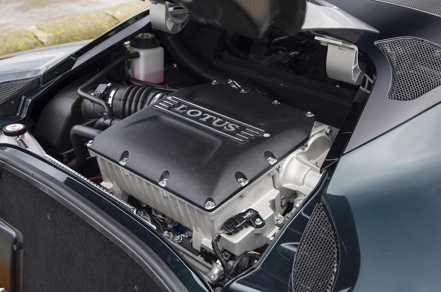 Lotus Evora GT410 Sport 2018 UK review engine