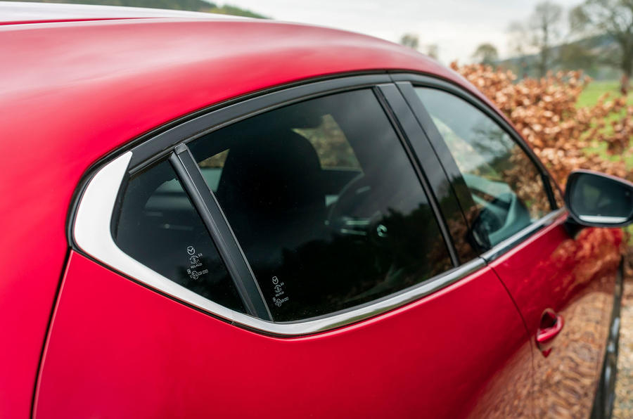 Mazda 3 2019 UK first drive review - rear quarter view