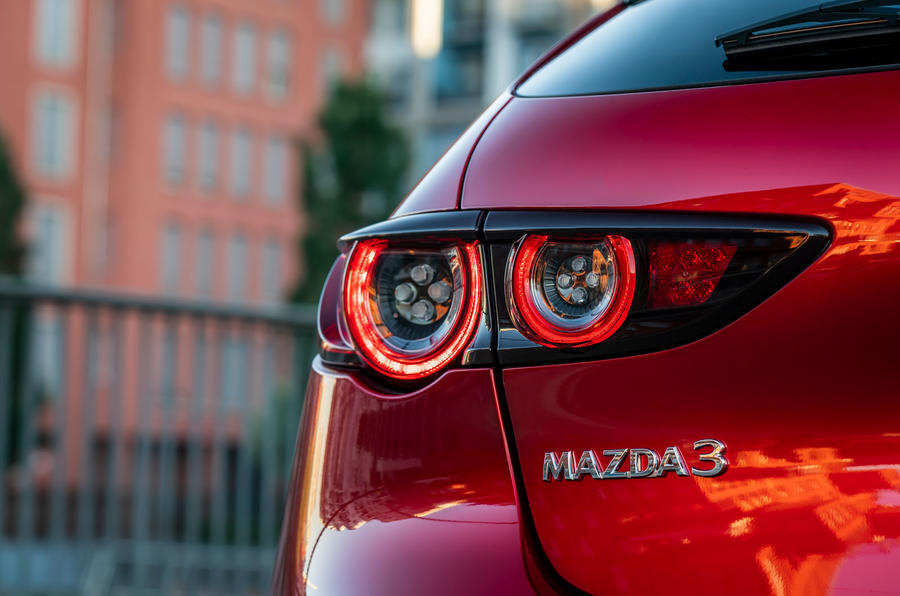 Mazda 3 Skyactiv-X 2019 first drive review - rear lights