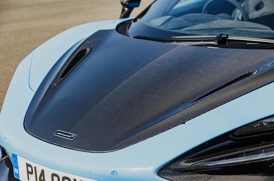 McLaren 720S Spider 2019 UK first drive - bonnet