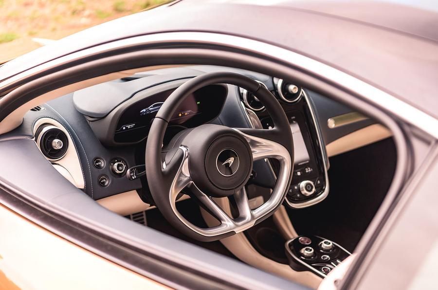 McLaren GT 2019 UK first drive review - cabin