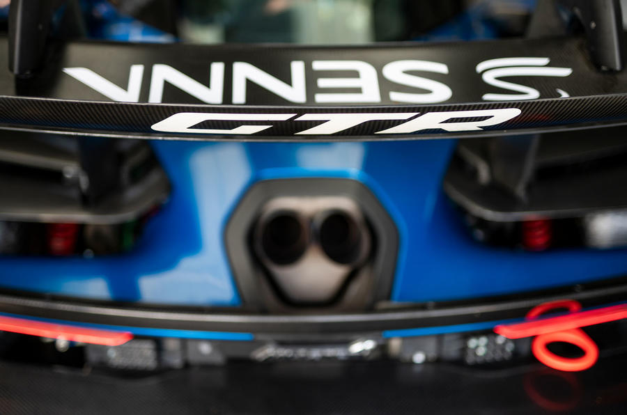 McLaren Senna GTR 2019 first drive review - rear wing
