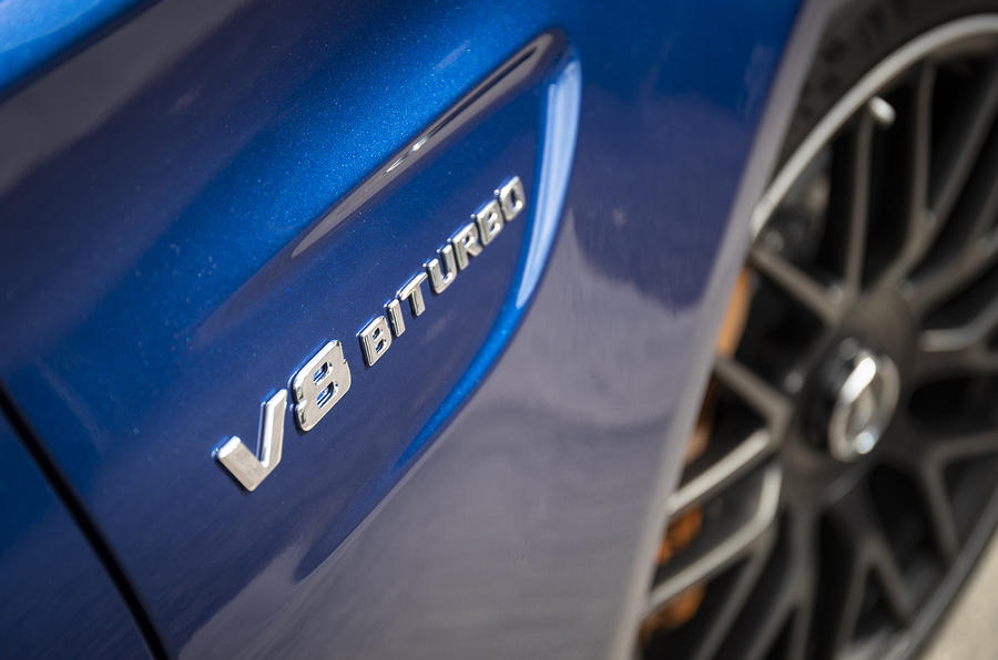 Mercedes-AMG C63 2018 first drive review biturbo badge