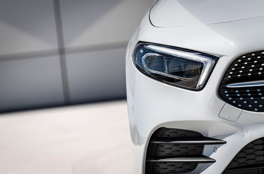 Mercedes-Benz A-Class A180D headlights