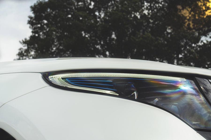 Mercedes-Benz EQC 400 2019 UK first drive review - headlights
