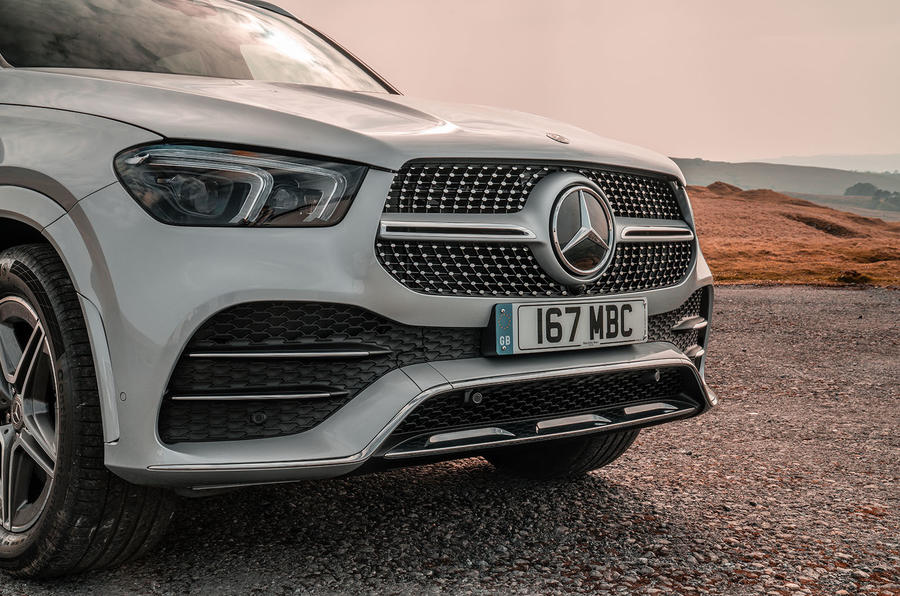 Mercedes-Benz GLE 400d 2019 UK first drive review - front bumper