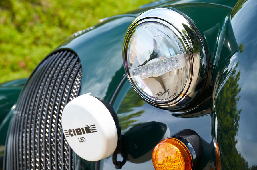 Morgan Plus Four 2020 UK first drive review - headlights