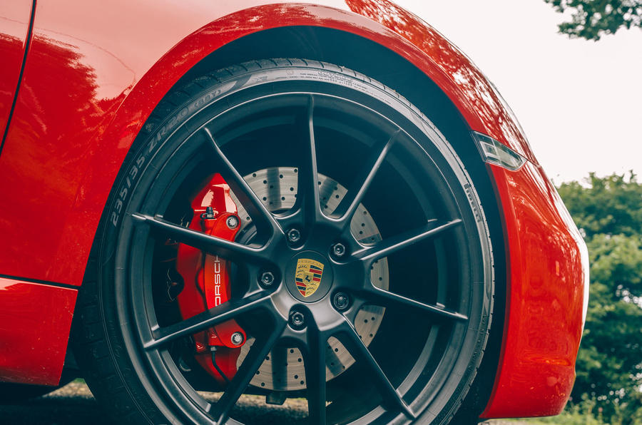 Porsche 718 Boxster GTS 4.0 2020 UK first drive review - alloy wheels