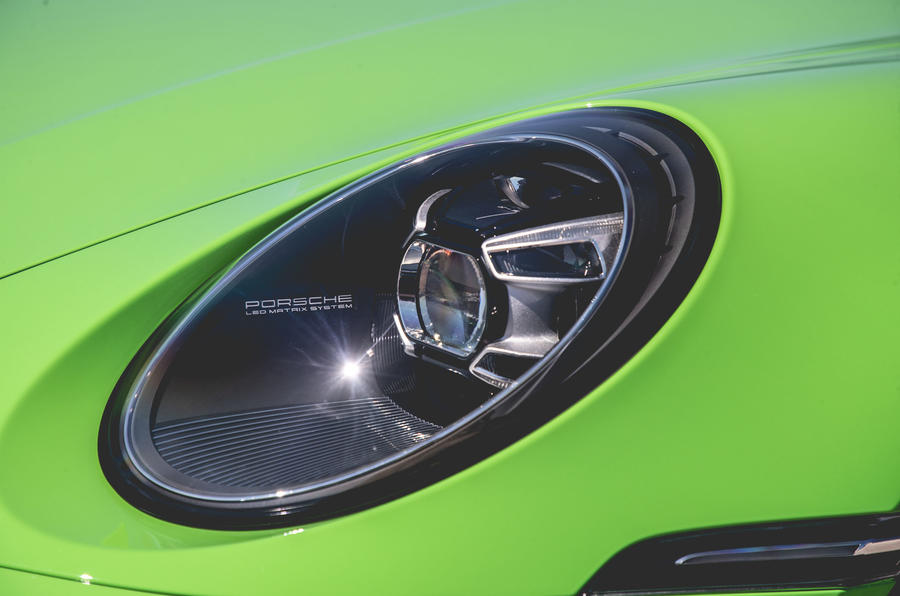Porsche 911 Cabriolet 2019 first drive review - headlights