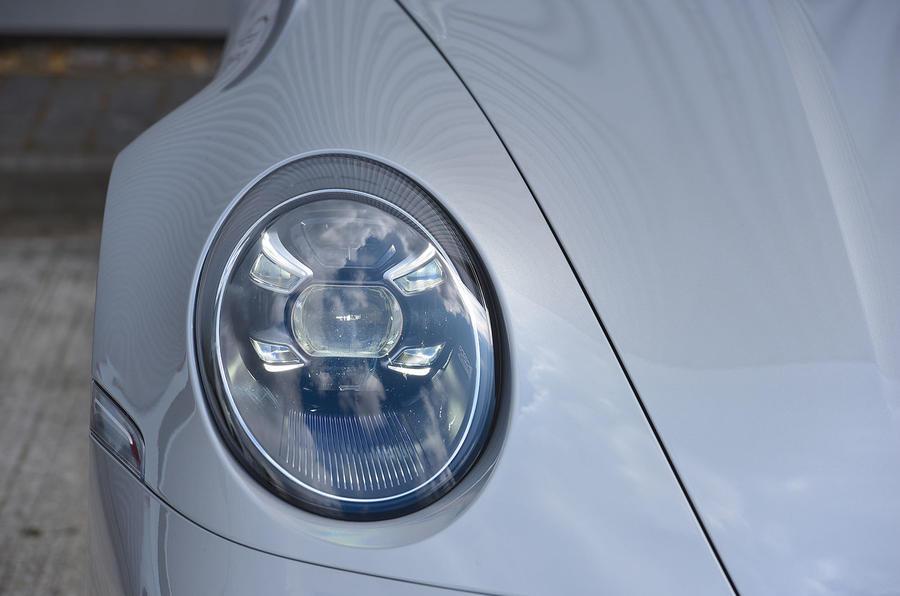 Porsche 911 Carrera 4S Cabriolet 2019 UK first drive review - headlights