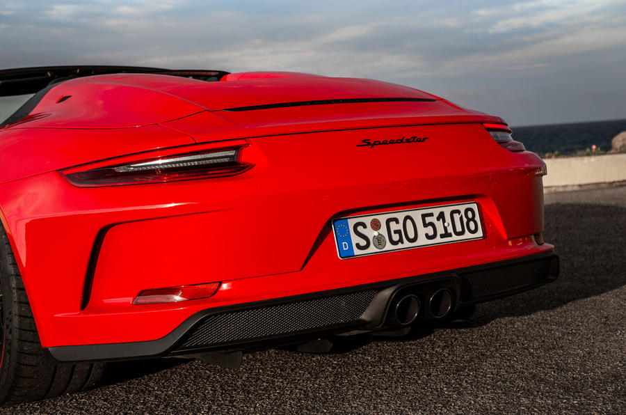 Porsche 911 Speedster 2019 first drive review - rear end