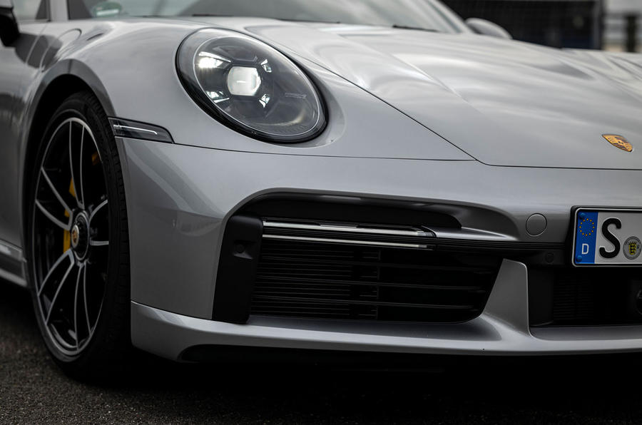 Porsche 911 Turbo S 2020 first drive review - front bumper