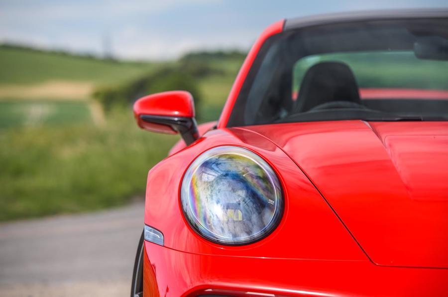 Porsche 911 Turbo S 2020 UK first drive review - headlights