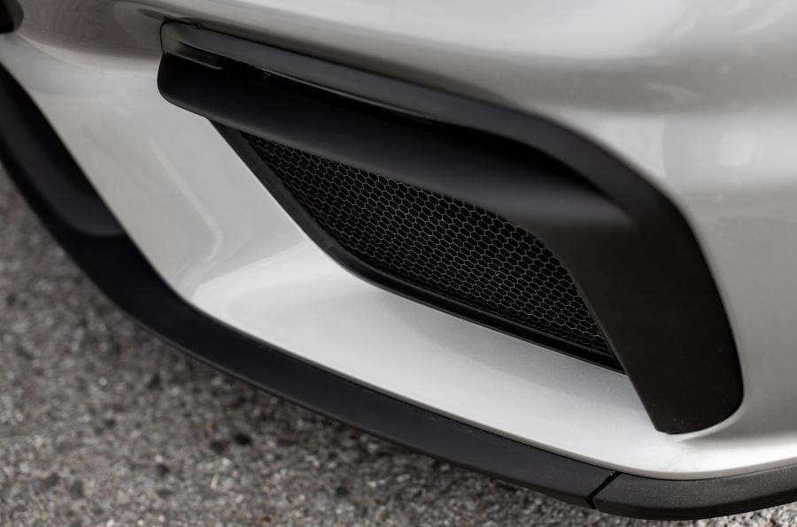 Porsche 718 Boxster Spyder 2019 first drive review - front bumper