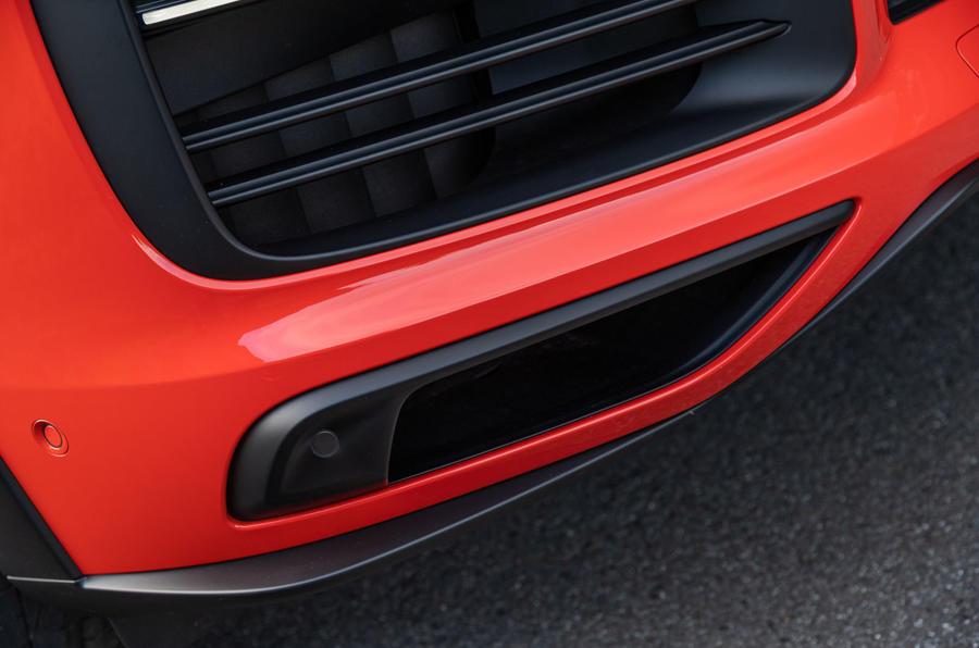 Porsche Cayenne Coupé 2019 first drive review - front bumper
