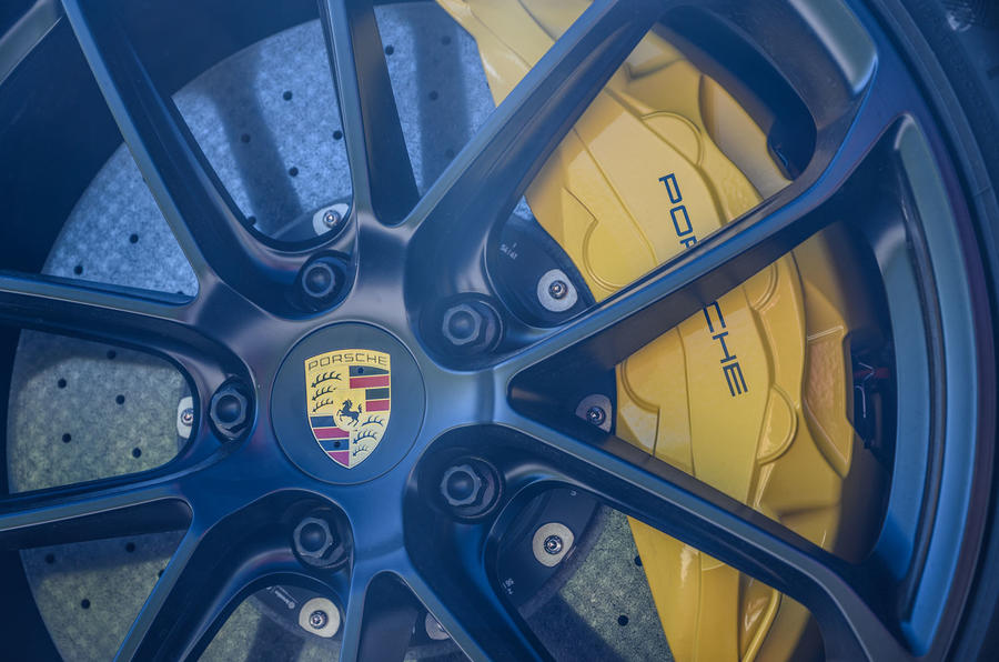 Porsche Cayenne GTS 2020 UK first drive review - brake calipers