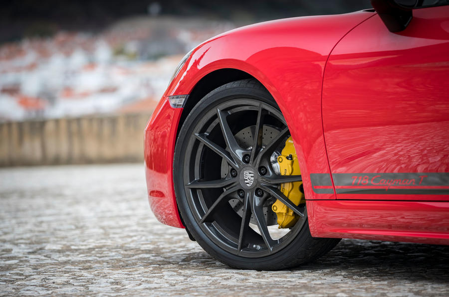 Porsche Cayman T 2019 first drive review - alloy wheels