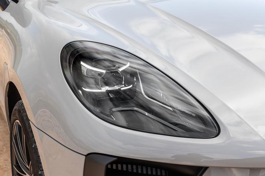 Porsche Macan S 2019 first drive review - headlights