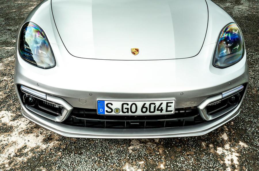 Porsche Panamera e-Hybrid 2020 UK first drive review - nose