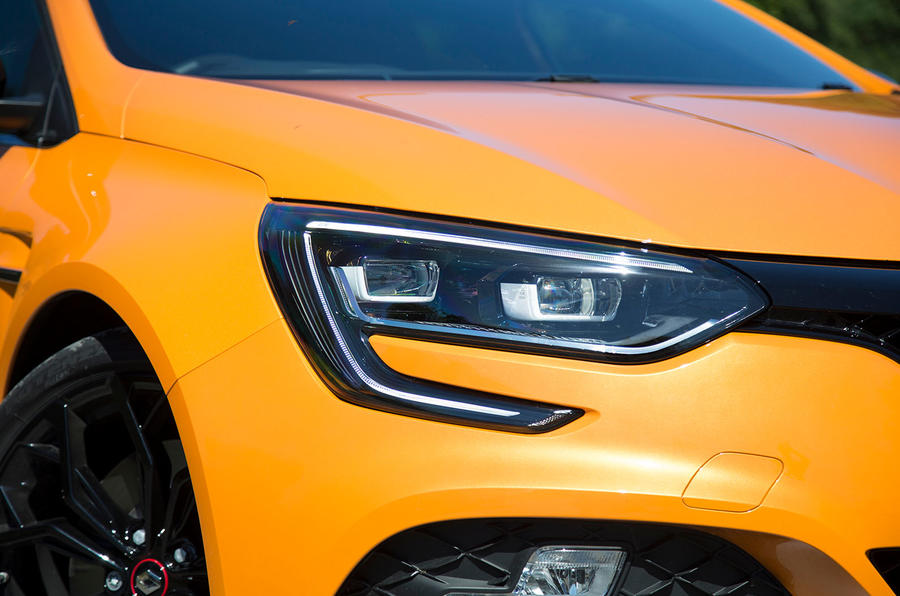 Renault Megane RS 2018 UK first drive headlights