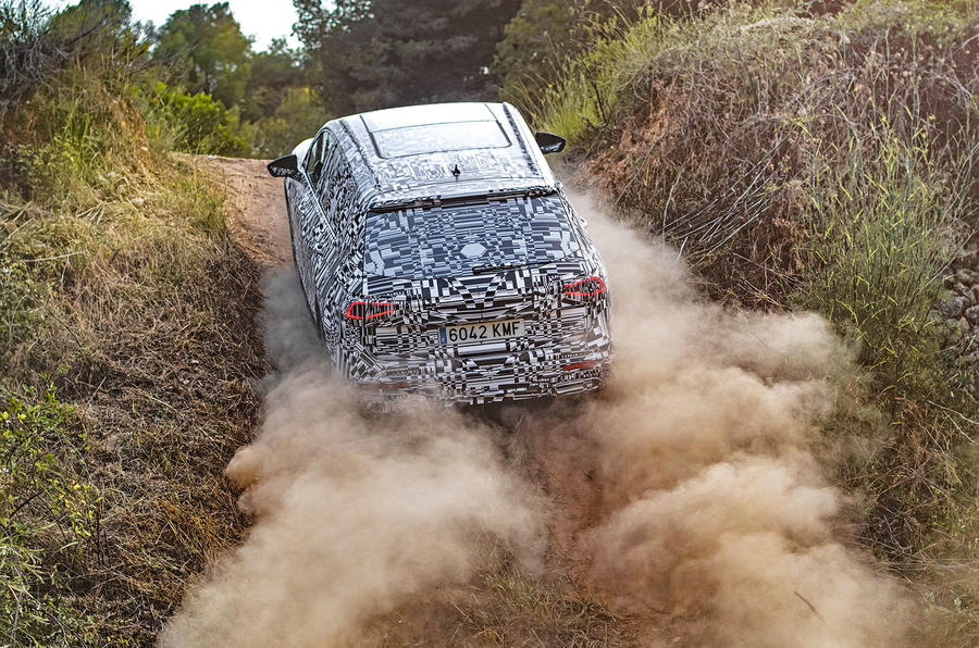 Seat Tarraco Prototype first drive 2018 offroad rear