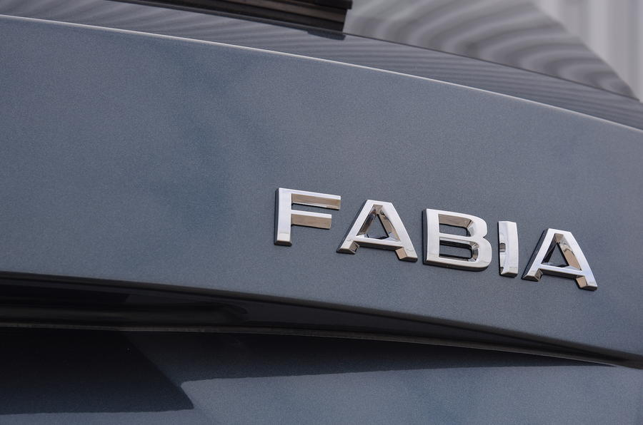 skoda fabia estate badge