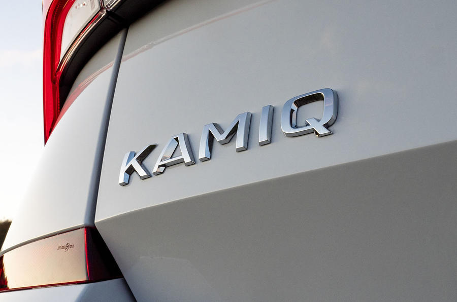 Skoda Kamiq 2019 UK first drive review - rear badge