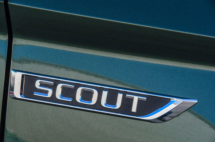 Skoda Karoq Scout 2019 first drive review - Scout badge