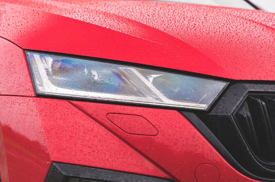 Skoda Octavia vRS iV 2020 UK First drive - headlights