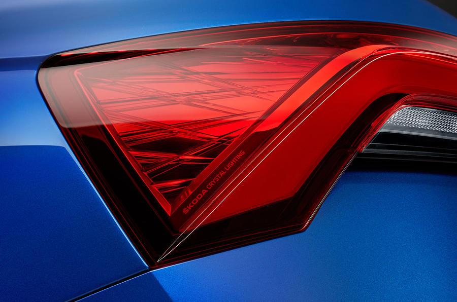 Skoda Scala 2019 first drive review - rear lights