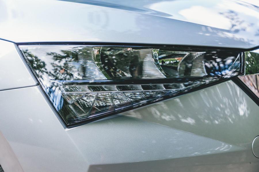 Skoda Scala 1.5 TSI SE 2019 UK first drive review - headlights