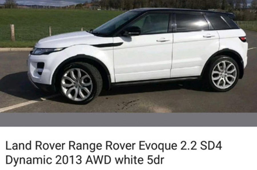 Stolen Range Rover Evoque - static side