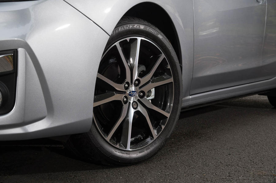 Subaru Impreza 2018 UK review alloy wheels
