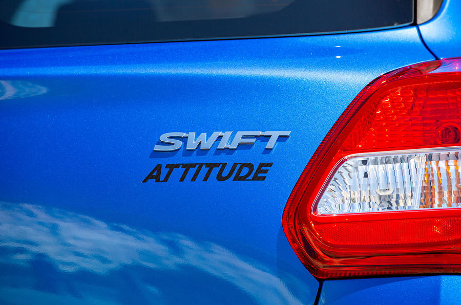 Suzuki Swift Attitude 2019 UK first drive review - rear badge