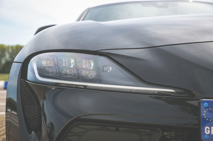 Toyota Supra 2019 UK first drive review - headlights