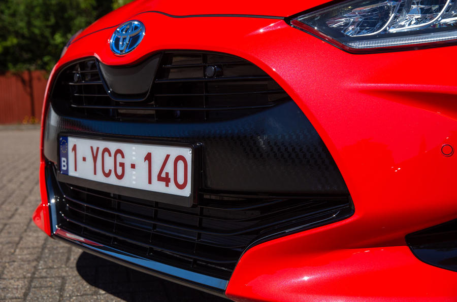 Toyota Yaris hybrid 2020 UK first drive review - nose