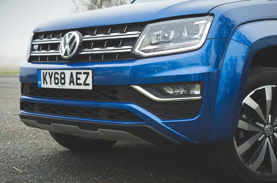 Volkswagen Amarok Aventura 2019 first drive review - front bumper