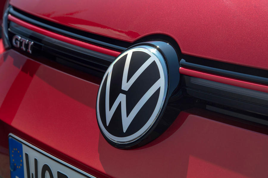 Volkswagen Golf GTI 2020 UK first drive review - nose badge
