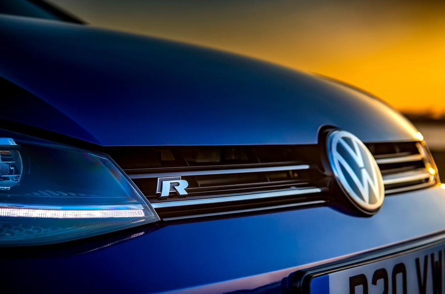 Volkswagen Golf R Performance Pack 2018 review bonnet badge