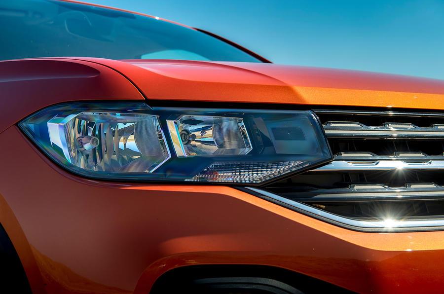 Volkswagen T-Cross 2019 UK first drive review - headlights