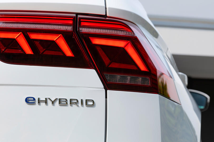 Volkswagen Tiguan eHybrid 2020 first drive review - rear badge