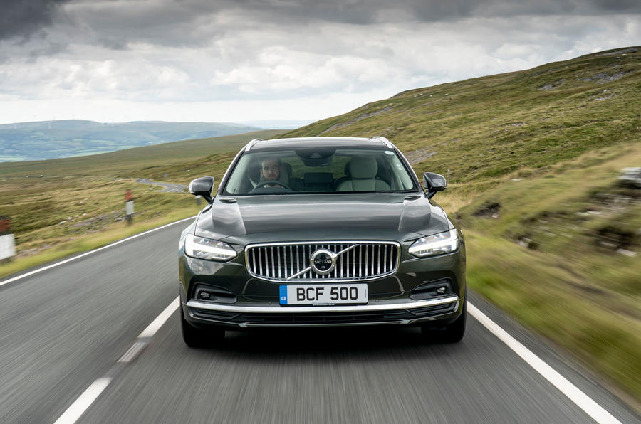 Volvo V90 B5 2020 UK first drive review - nose