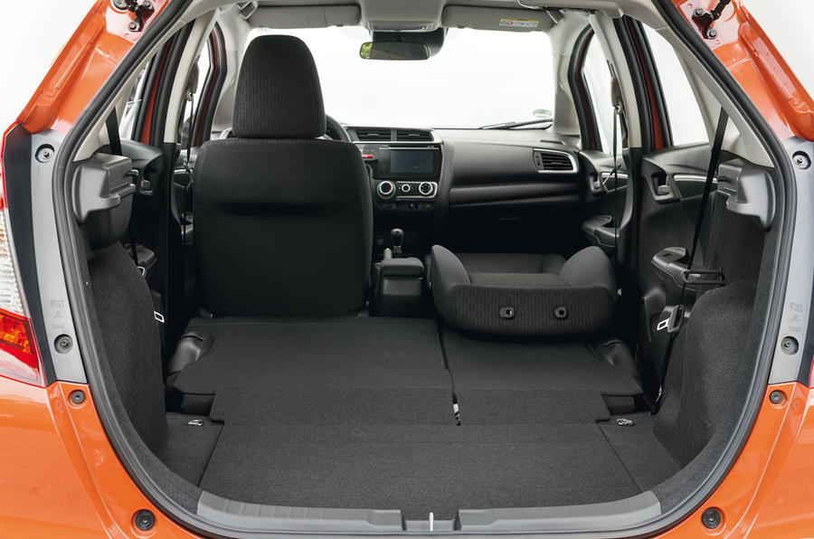Honda Jazz fully extended boot space