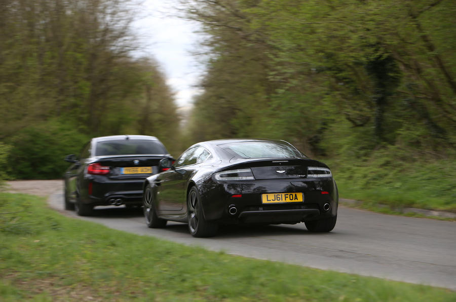 BMW M2 vs Aston Martin V8 Vantage: new vs used
