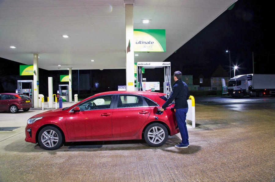 Kia Ceed Lawrence Allan petrol fill-up