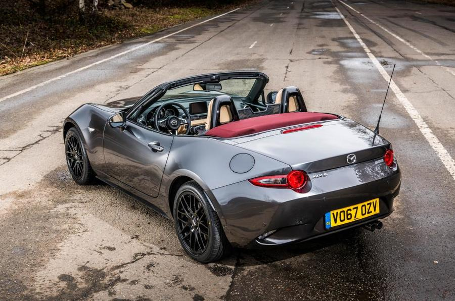 Mazda MX-5 Z-Sport rear roof open